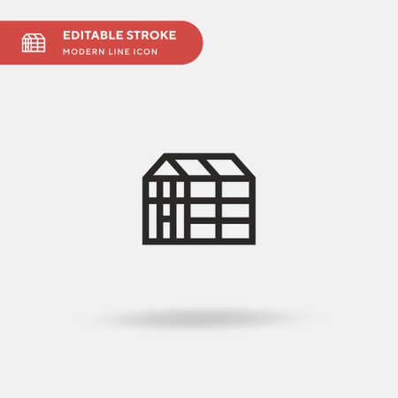 Greenhouse Simple vector icon. Illustration symbol design template for web mobile UI element. Perfect color modern pictogram on editable stroke. Greenhouse icons for your business project