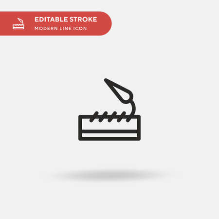 Art And Design Simple vector icon. Illustration symbol design template for web mobile UI element. Perfect color modern pictogram on editable stroke. Art And Design icons for your business project  イラスト・ベクター素材