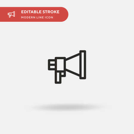 Announcer Simple vector icon. Illustration symbol design template for web mobile UI element. Perfect color modern pictogram on editable stroke. Announcer icons for your business project Ilustrace