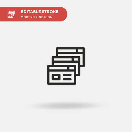 Browsers Simple vector icon. Illustration symbol design template for web mobile UI element. Perfect color modern pictogram on editable stroke. Browsers icons for your business project Иллюстрация