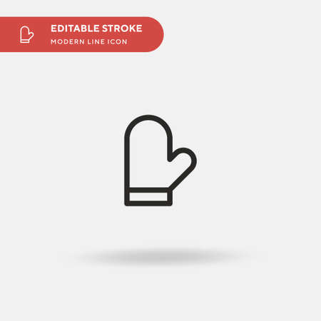 Mitten Simple vector icon. Illustration symbol design template for web mobile UI element. Perfect color modern pictogram on editable stroke. Mitten icons for your business project