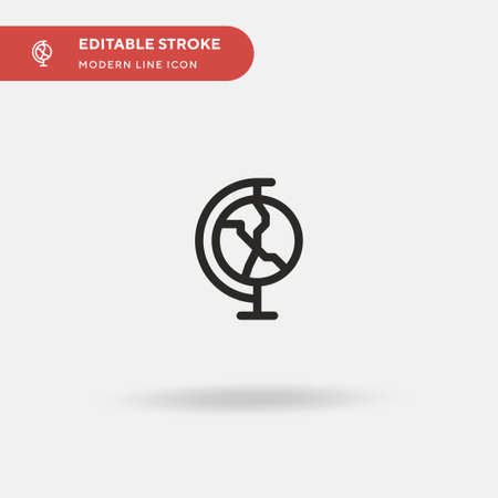 Earth Simple vector icon. Illustration symbol design template for web mobile UI element. Perfect color modern pictogram on editable stroke. Earth icons for your business project