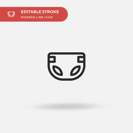 Diaper Simple vector icon. Illustration symbol design template for web mobile UI element. Perfect color modern pictogram on editable stroke. Diaper icons for your business project