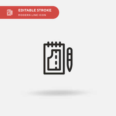 Contract Simple vector icon. Illustration symbol design template for web mobile UI element. Perfect color modern pictogram on editable stroke. Contract icons for your business project