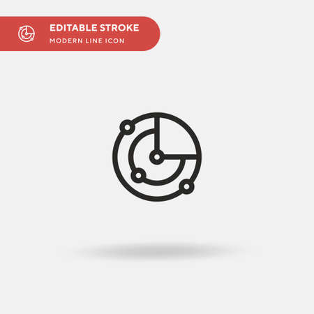 Radar Simple vector icon. Illustration symbol design template for web mobile UI element. Perfect color modern pictogram on editable stroke. Radar icons for your business project