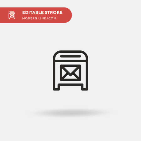 Mailbox Simple vector icon. Illustration symbol design template for web mobile UI element. Perfect color modern pictogram on editable stroke. Mailbox icons for your business project