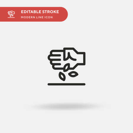 Beans Simple vector icon. Illustration symbol design template for web mobile UI element. Perfect color modern pictogram on editable stroke. Beans icons for your business project Ilustrace