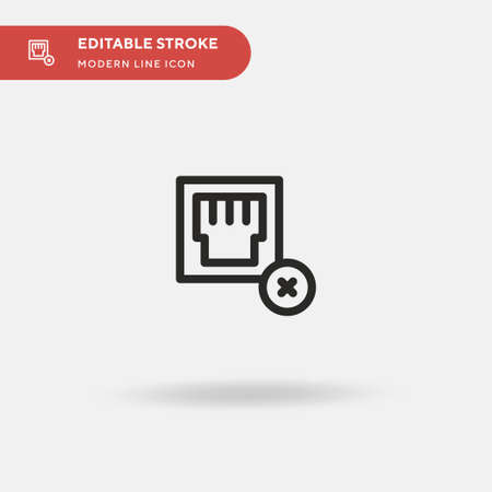 Cable Simple vector icon. Illustration symbol design template for web mobile UI element. Perfect color modern pictogram on editable stroke. Cable icons for your business project Ilustração