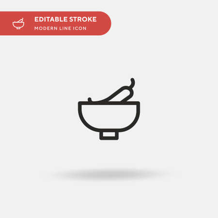 Soup Simple vector icon. Illustration symbol design template for web mobile UI element. Perfect color modern pictogram on editable stroke. Soup icons for your business project Illusztráció