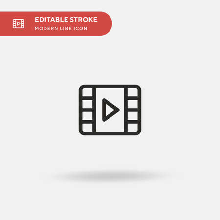 Video Simple vector icon. Illustration symbol design template for web mobile UI element. Perfect color modern pictogram on editable stroke. Video icons for your business project Illusztráció