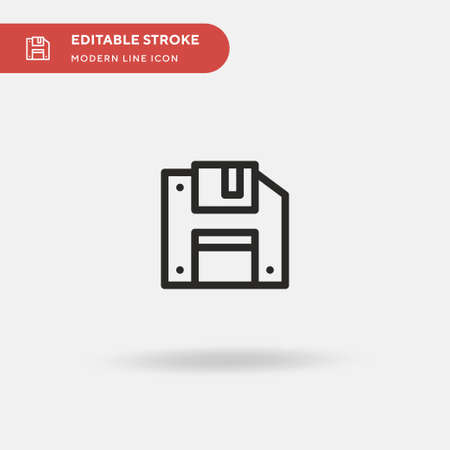 Diskette Simple vector icon. Illustration symbol design template for web mobile UI element. Perfect color modern pictogram on editable stroke. Diskette icons for your business project 向量圖像