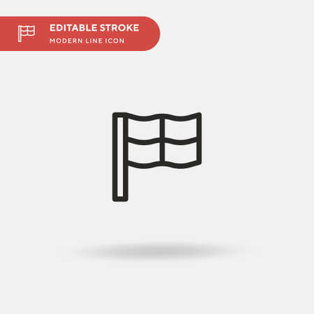 Country Simple vector icon. Illustration symbol design template for web mobile UI element. Perfect color modern pictogram on editable stroke. Country icons for your business project