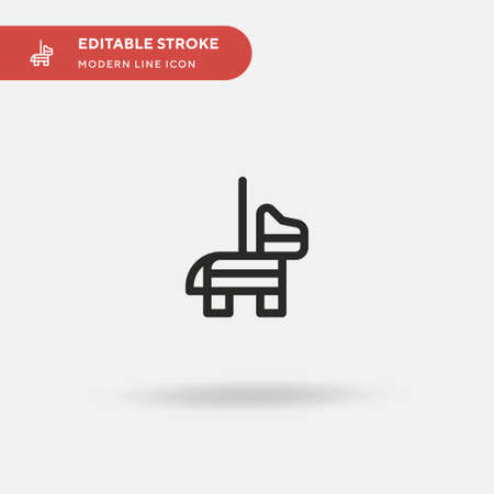 Pinata Simple vector icon. Illustration symbol design template for web mobile UI element. Perfect color modern pictogram on editable stroke. Pinata icons for your business project