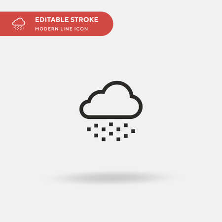 Snowing Simple vector icon. Illustration symbol design template for web mobile UI element. Perfect color modern pictogram on editable stroke. Snowing icons for your business project