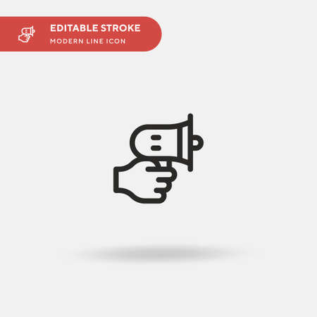 Speaker Simple vector icon. Illustration symbol design template for web mobile UI element. Perfect color modern pictogram on editable stroke. Speaker icons for your business project