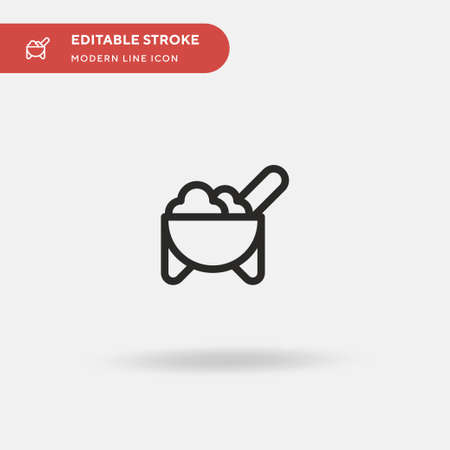Molcajete Simple vector icon. Illustration symbol design template for web mobile UI element. Perfect color modern pictogram on editable stroke. Molcajete icons for your business project 스톡 콘텐츠 - 151135512