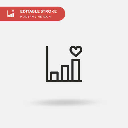 Bars Simple vector icon. Illustration symbol design template for web mobile UI element. Perfect color modern pictogram on editable stroke. Bars icons for your business project 向量圖像