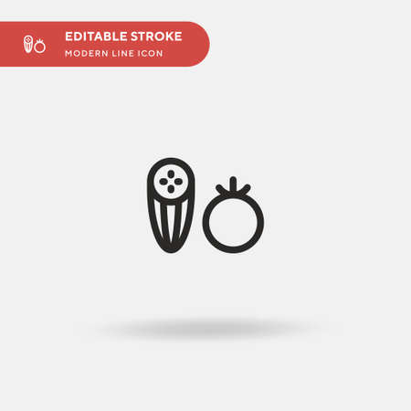 Vegetables Simple vector icon. Illustration symbol design template for web mobile UI element. Perfect color modern pictogram on editable stroke. Vegetables icons for your business project