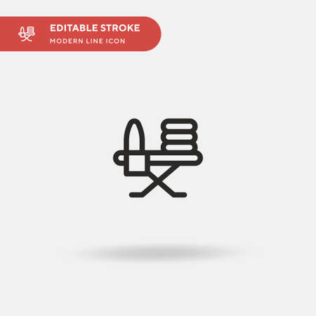 Furniture And Household Simple vector icon. Illustration symbol design template for web mobile UI element. Perfect color modern pictogram on editable stroke. Furniture And Household icons for your business project Stock Illustratie