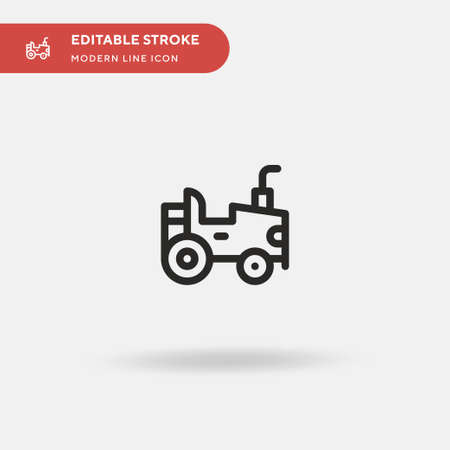 Agriculture Simple vector icon. Illustration symbol design template for web mobile UI element. Perfect color modern pictogram on editable stroke. Agriculture icons for your business project Çizim