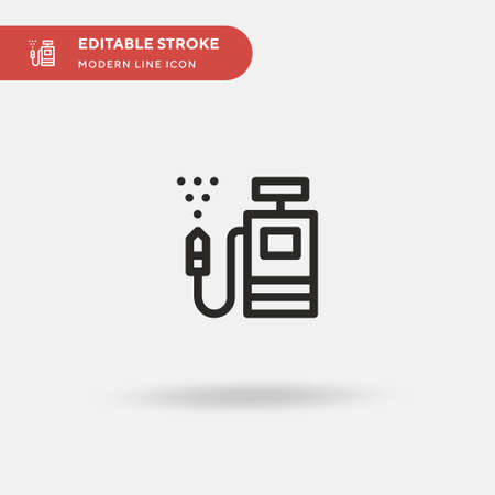 Farming Simple vector icon. Illustration symbol design template for web mobile UI element. Perfect color modern pictogram on editable stroke. Farming icons for your business project