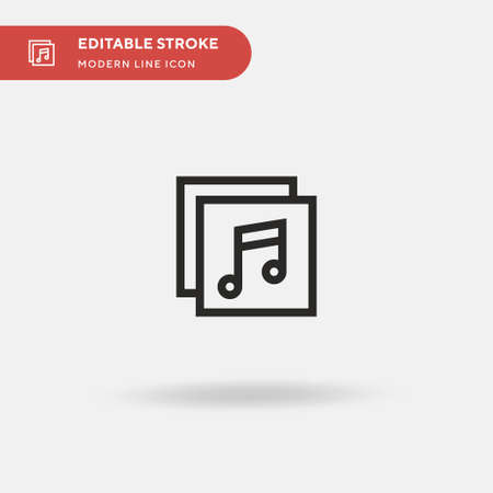 Album Simple vector icon. Illustration symbol design template for web mobile UI element. Perfect color modern pictogram on editable stroke. Album icons for your business project 向量圖像