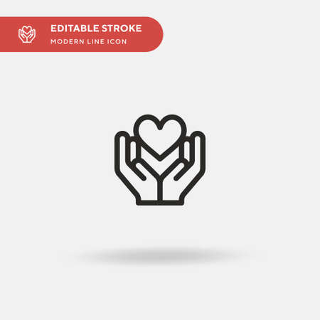 Loyalty Simple vector icon. Illustration symbol design template for web mobile UI element. Perfect color modern pictogram on editable stroke. Loyalty icons for your business project
