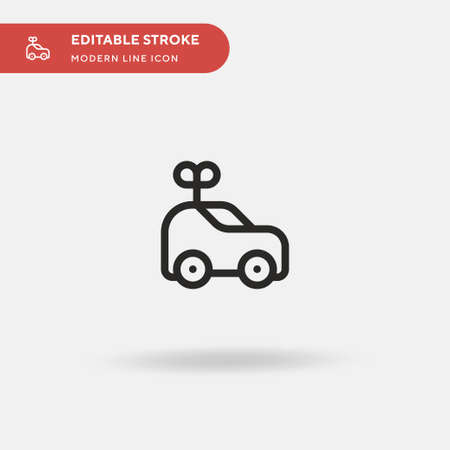Car Simple vector icon. Illustration symbol design template for web mobile UI element. Perfect color modern pictogram on editable stroke. Car icons for your business project Stock Illustratie