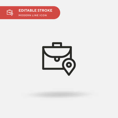 Pin Simple vector icon. Illustration symbol design template for web mobile UI element. Perfect color modern pictogram on editable stroke. Pin icons for your business project Иллюстрация
