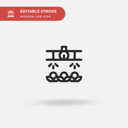 Drops Simple vector icon. Illustration symbol design template for web mobile UI element. Perfect color modern pictogram on editable stroke. Drops icons for your business project