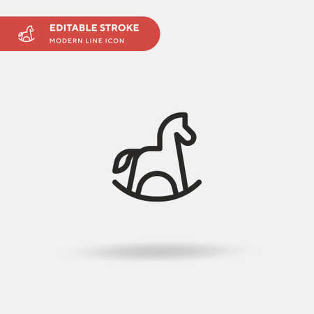 Rocking Horse Simple vector icon. Illustration symbol design template for web mobile UI element. Perfect color modern pictogram on editable stroke. Rocking Horse icons for your business project