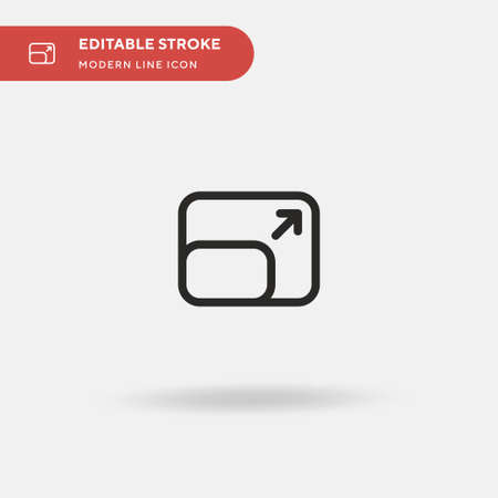Resolution Simple vector icon. Illustration symbol design template for web mobile UI element. Perfect color modern pictogram on editable stroke. Resolution icons for your business project