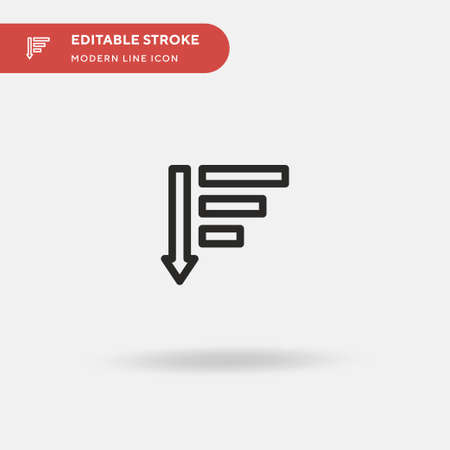 Sort Simple vector icon. Illustration symbol design template for web mobile UI element. Perfect color modern pictogram on editable stroke. Sort icons for your business project