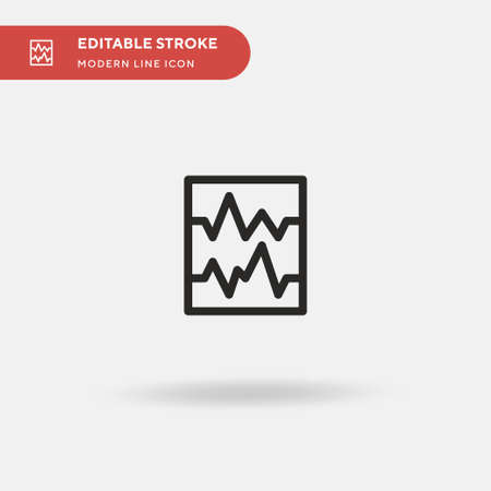 Seismic Simple vector icon. Illustration symbol design template for web mobile UI element. Perfect color modern pictogram on editable stroke. Seismic icons for your business project