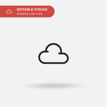 Cloudy Simple vector icon. Illustration symbol design template for web mobile UI element. Perfect color modern pictogram on editable stroke. Cloudy icons for your business project