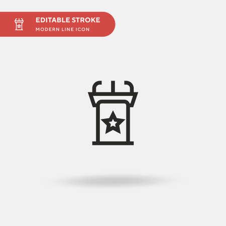 Tribune Simple vector icon. Illustration symbol design template for web mobile UI element. Perfect color modern pictogram on editable stroke. Tribune icons for your business project Ilustração