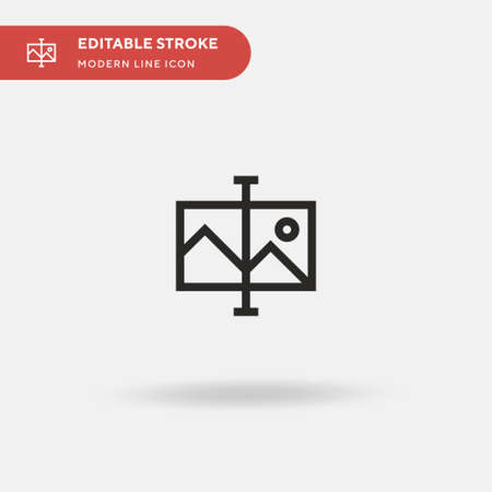 Image Simple vector icon. Illustration symbol design template for web mobile UI element. Perfect color modern pictogram on editable stroke. Image icons for your business project 向量圖像