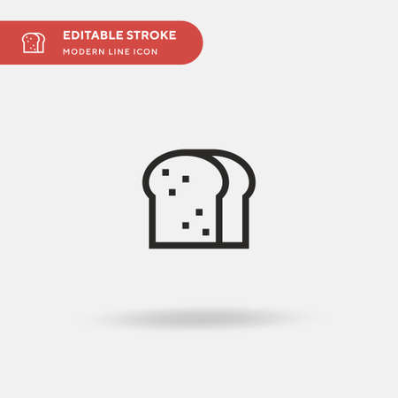 Toast Simple vector icon. Illustration symbol design template for web mobile UI element. Perfect color modern pictogram on editable stroke. Toast icons for your business project