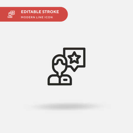 Customer Simple vector icon. Illustration symbol design template for web mobile UI element. Perfect color modern pictogram on editable stroke. Customer icons for your business project