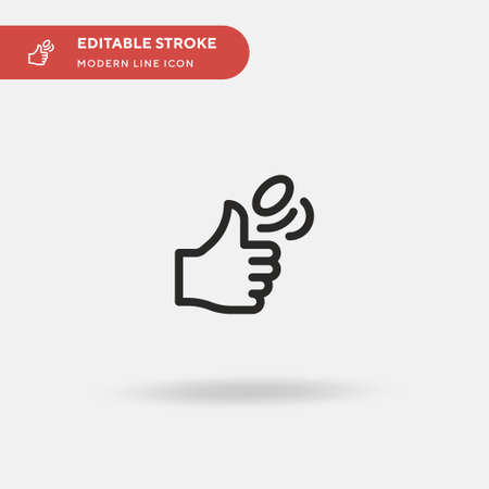 Coin Toss Simple vector icon. Illustration symbol design template for web mobile UI element. Perfect color modern pictogram on editable stroke. Coin Toss icons for your business project