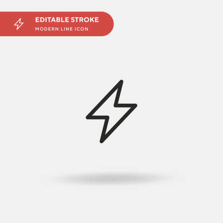 Flash Simple vector icon. Illustration symbol design template for web mobile UI element. Perfect color modern pictogram on editable stroke. Flash icons for your business project 矢量图像