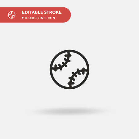 Baseball Simple vector icon. Illustration symbol design template for web mobile UI element. Perfect color modern pictogram on editable stroke. Baseball icons for your business project  イラスト・ベクター素材