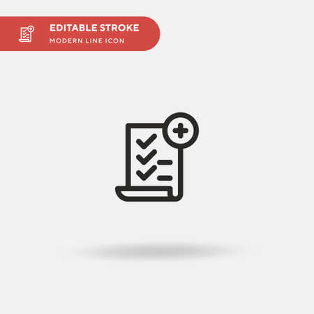 Review Simple vector icon. Illustration symbol design template for web mobile UI element. Perfect color modern pictogram on editable stroke. Review icons for your business project