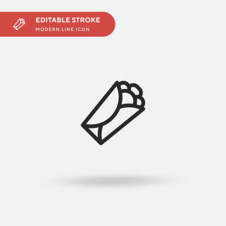 Burritos Simple vector icon. Illustration symbol design template for web mobile UI element. Perfect color modern pictogram on editable stroke. Burritos icons for your business project 일러스트