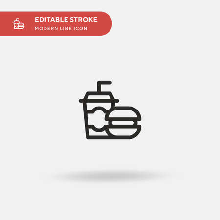 Burger Simple vector icon. Illustration symbol design template for web mobile UI element. Perfect color modern pictogram on editable stroke. Burger icons for your business project 스톡 콘텐츠 - 151137453