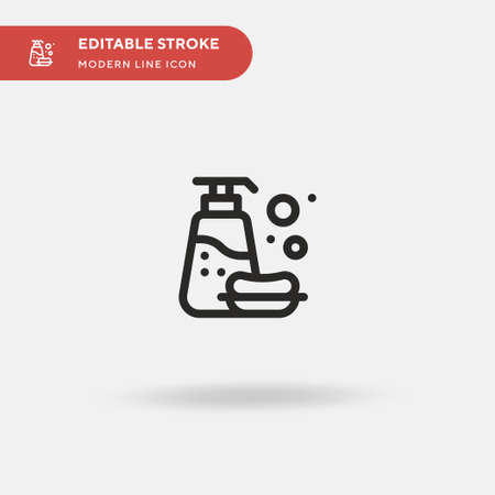 Bath Simple vector icon. Illustration symbol design template for web mobile UI element. Perfect color modern pictogram on editable stroke. Bath icons for your business project