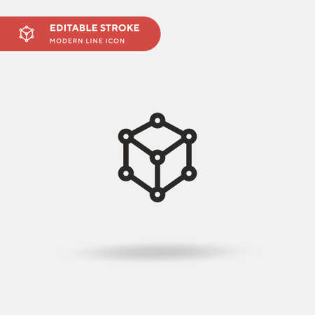 Structure Simple vector icon. Illustration symbol design template for web mobile UI element. Perfect color modern pictogram on editable stroke. Structure icons for your business project