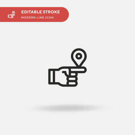 Point Simple vector icon. Illustration symbol design template for web mobile UI element. Perfect color modern pictogram on editable stroke. Point icons for your business project Vettoriali