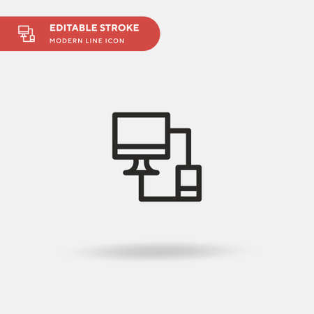 Responsive Simple vector icon. Illustration symbol design template for web mobile UI element. Perfect color modern pictogram on editable stroke. Responsive icons for your business project