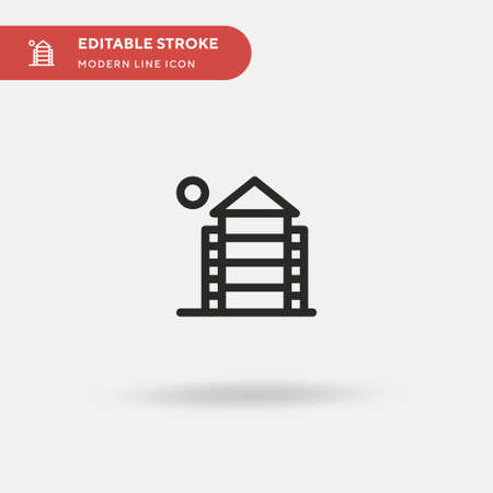 Barn Simple vector icon. Illustration symbol design template for web mobile UI element. Perfect color modern pictogram on editable stroke. Barn icons for your business project  イラスト・ベクター素材